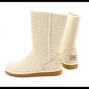 UGG Crotchet Cardy Cream Boots 7